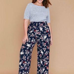 NWT Lane Bryant Allie Wide Leg Floral Pants Sz 16